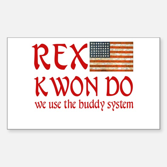 Rex Kwon Do Rectangle Decal