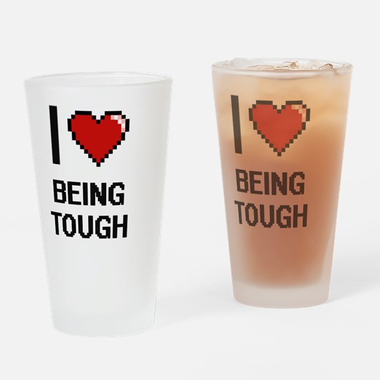 Funny Tough as nails Drinking Glass