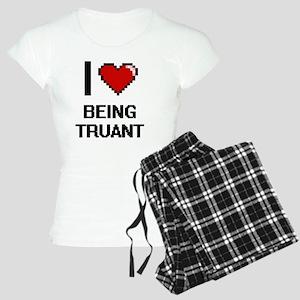I love Being Truant Digitia Women's Light Pajamas