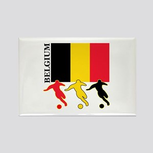 Belgium Soccer Rectangle Magnet