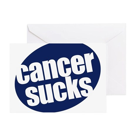 CANCER SUCKS! Greeting Card