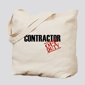 Off Duty Contractor Tote Bag