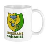 Brisbane Canaries Logo Mugs - Left Hand