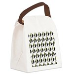 Moorish Idol Fish Pattern Canvas Lunch Bag