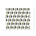 Moorish Idol Fish Pattern Postcards (Package of 8)
