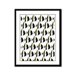 Moorish Idol Fish Pattern Framed Panel Print