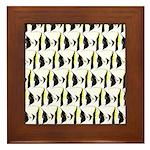 Moorish Idol Fish Pattern Framed Tile