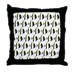 Moorish Idol Fish Pattern Throw Pillow