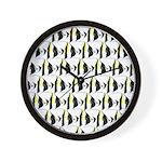 Moorish Idol Fish Pattern Wall Clock