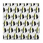 Moorish Idol Fish Pattern Tile Coaster