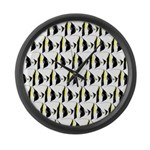 Moorish Idol Fish Pattern Large Wall Clock