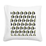 Moorish Idol Fish Pattern Square Canvas Pillow