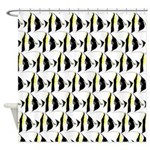 Moorish Idol Fish Pattern Shower Curtain
