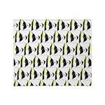 Moorish Idol Fish Pattern Throw Blanket