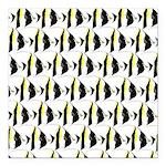 Moorish Idol Fish Pattern Square Car Magnet 3