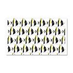 Moorish Idol Fish Pattern Car Magnet 20 x 12