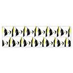 Moorish Idol Fish Pattern Bumper Sticker