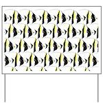 Moorish Idol Fish Pattern Yard Sign