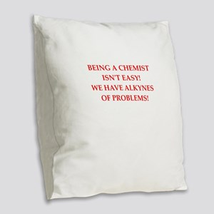 chemist Burlap Throw Pillow