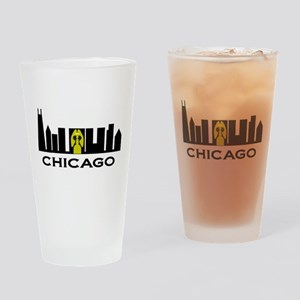 Chicago Silhouette Drinking Glass