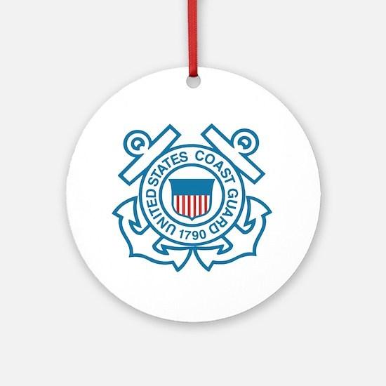 Coast Guard Ornament (Round)