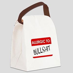 Allergic To Bullshit Canvas Lunch Bag