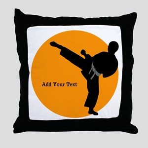 Karate Boy Throw Pillow