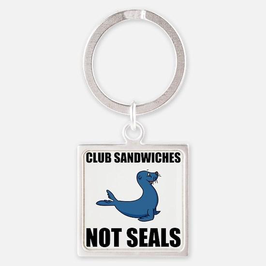 Club Sandwiches Not Seals Keychains