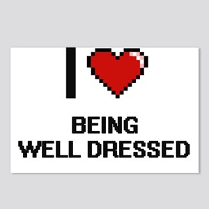 I love Being Well-Dressed Postcards (Package of 8)