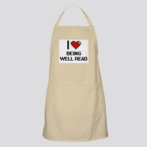 I love Being Well-Read Digitial Design Apron