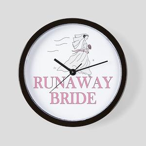 Runaway Bride Too Wall Clock