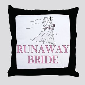 Runaway Bride Too Throw Pillow