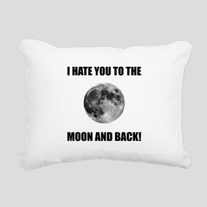 Hate To The Moon Rectangular Canvas Pillow