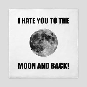 Hate To The Moon Queen Duvet
