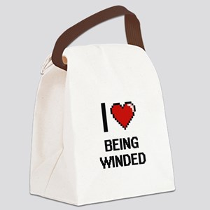 I love Being Winded Digitial Desi Canvas Lunch Bag