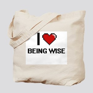 I love Being Wise Digitial Design Tote Bag