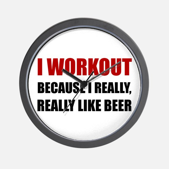 Workout Beer Wall Clock