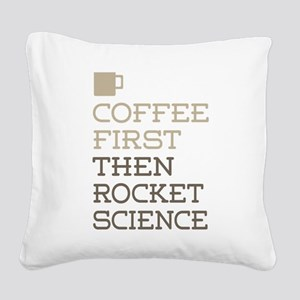 Rocket Science Square Canvas Pillow