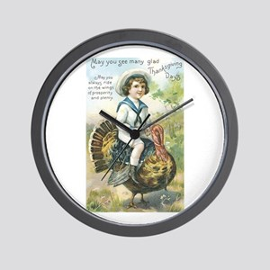 Thanksgiving Day One Store Wall Clock