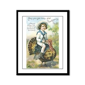 Thanksgiving Day One Store Framed Panel Print