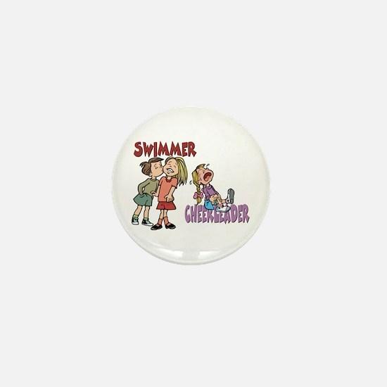 Swimmers vs Cheerleaders Mini Button