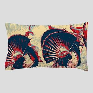vintage american wild turkey Pillow Case