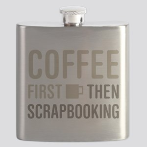 Coffee Then Scrapbooking Flask