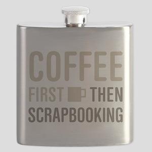 Coffee Then Scrapbooking Flask