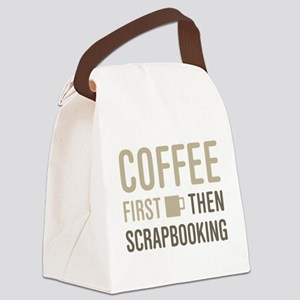 Coffee Then Scrapbooking Canvas Lunch Bag
