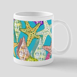 Seashells and sea stars Mugs