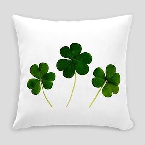 Lucky Shamrocks Everyday Pillow