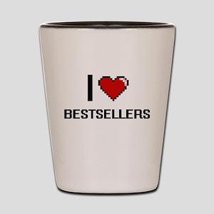 I Love Bestsellers Digitial Design Shot Glass
