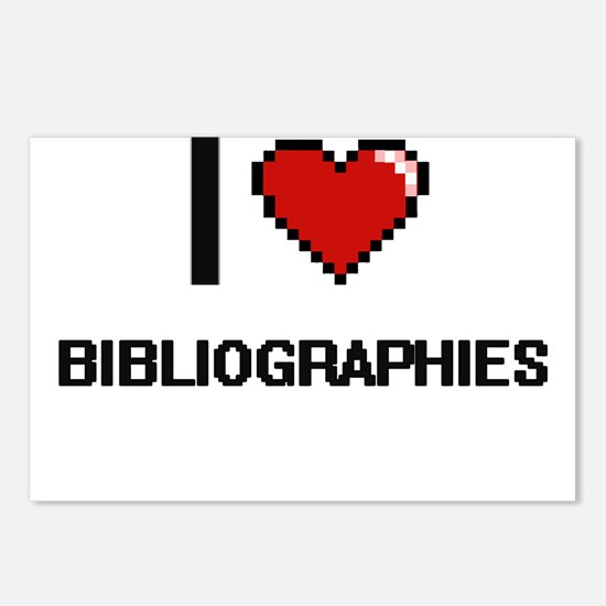 I Love Bibliographies Dig Postcards (Package of 8)