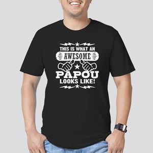 Awesome Papou Men's Fitted T-Shirt (dark)